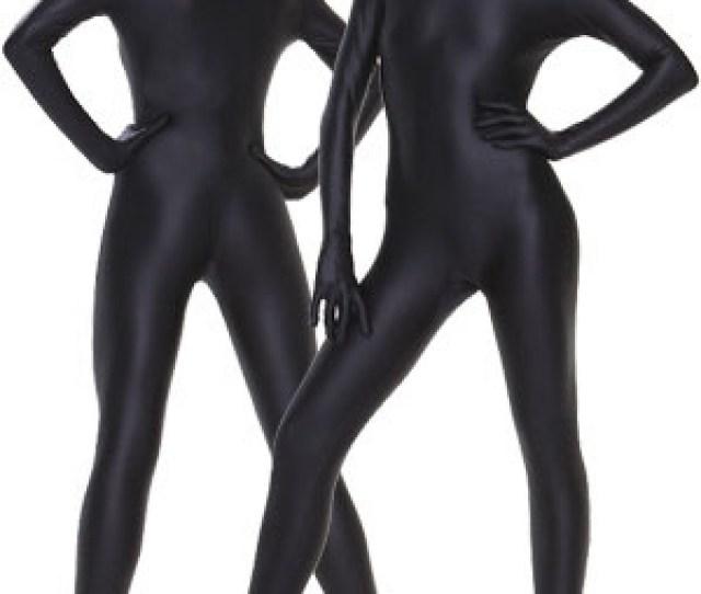 Black Lycra Fabric Zentai Suits Sexy