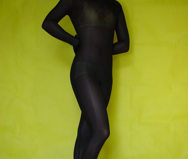 Black Silk Lycra Zentai Suit