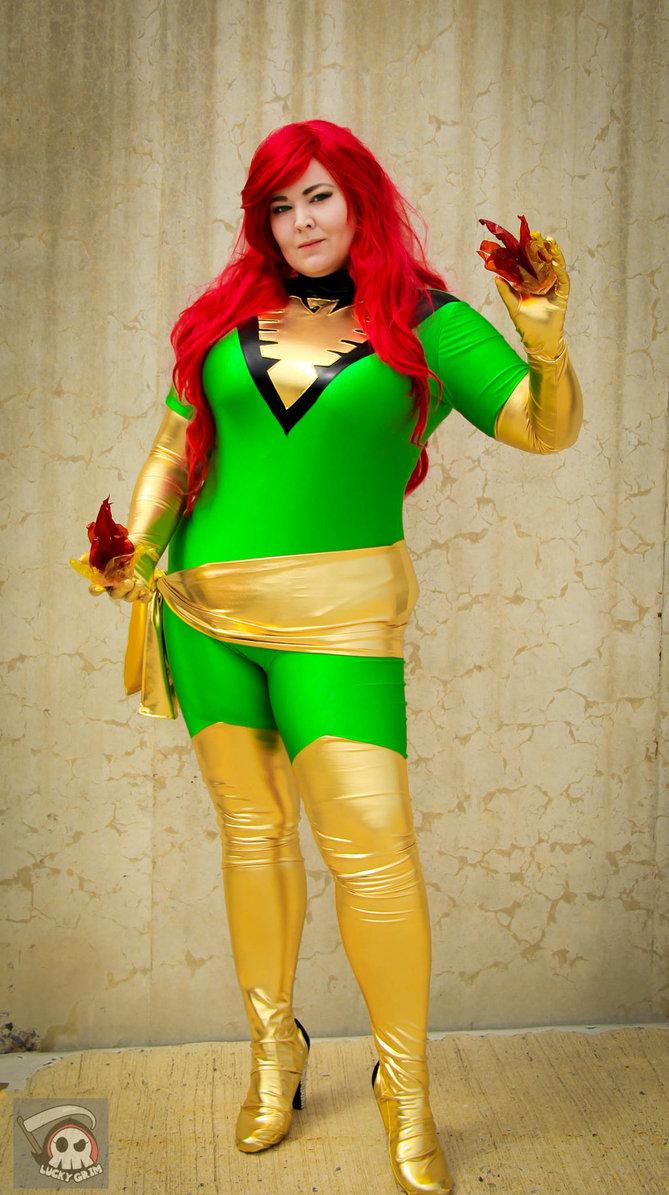 X Men Phoenix Jean Grey Costume Spandex Catsuit
