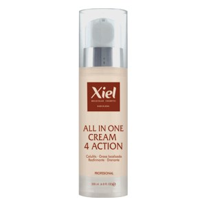 Crema Anticelulítica Moldeadora de 4 acciones / ALL IN ONE CREAM 4 ACTION 200ml / Xiel