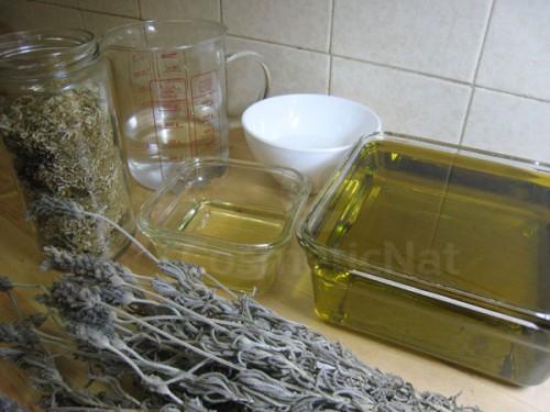Ingredientes ya preparados para el jabón