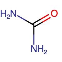 estructura química de la urea