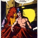 Starfire and Nightwing in what once qualified as a scandalous comic book sex scene