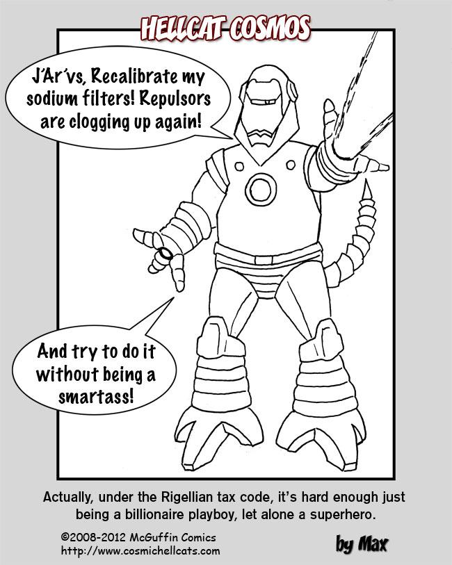 Rigellian Avengers: Iron Man