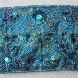 Brocade Turquoise Embroidered Purses