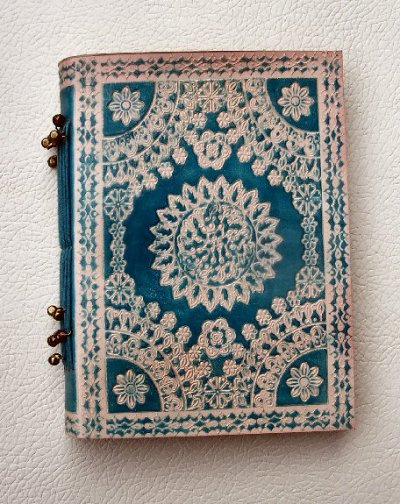 Leather Embossed Notebooks Turquoise