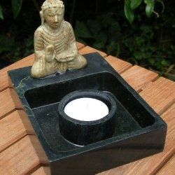 Marble Buddha Candle Holder