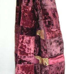 Maroon Burgundy Velvet Scarves