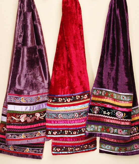 f16000c79467c Happy Hippy Velvet Scarf - Hot Pink - Cosmic Collection
