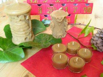 beeswax candles tea lights