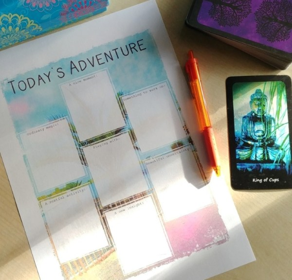 every day is a new adventure tarot spread Page of Wands