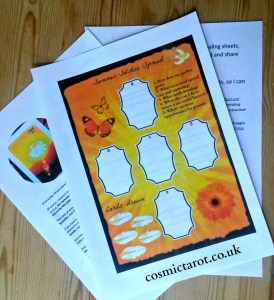 summer solstice tarot spread journaling sheet