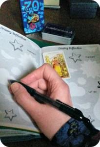 creative tarot journaling