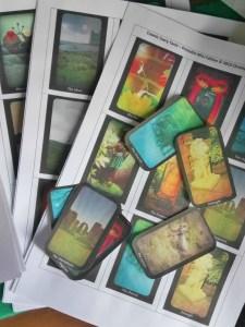 cosmic faery tarot printable mini deck