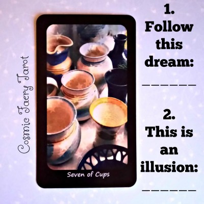seven of cups tarot spread