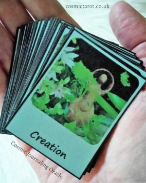cosmic journaling oracle cards handmade