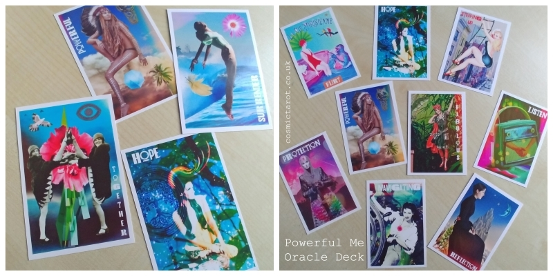 powerful me oracle cards and postcards
