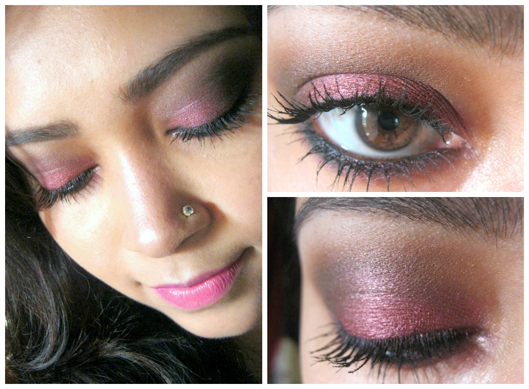 Marsala eye makeup tutorial