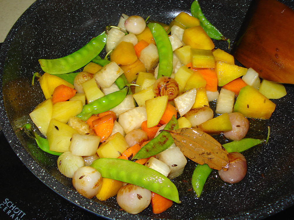 mixed vegetables with tamarind pic22