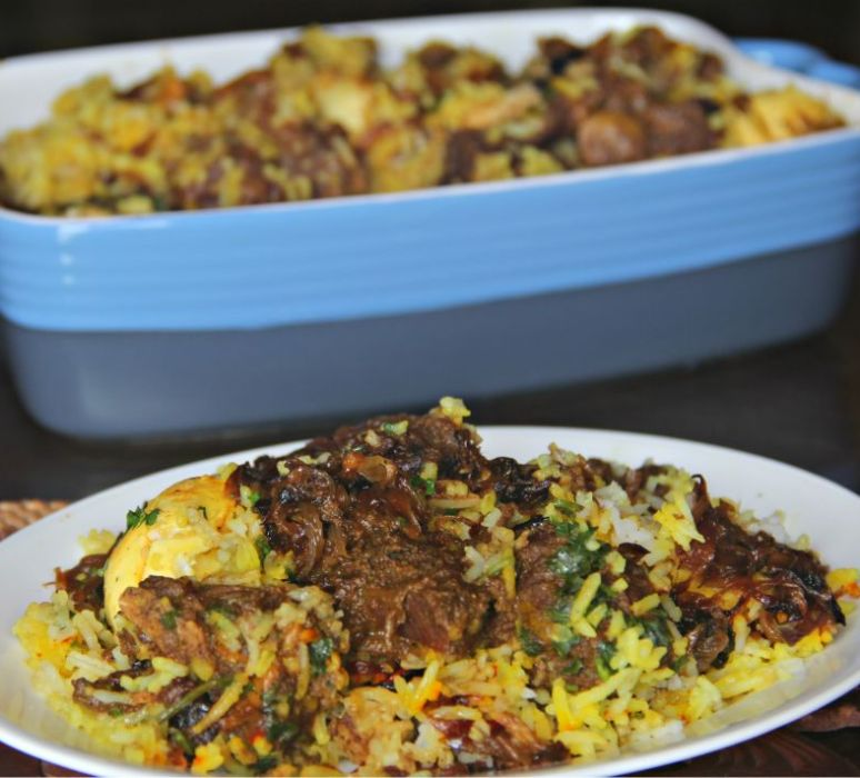 Mutton Biryani with Healthy Flax and Watermelon Seeds