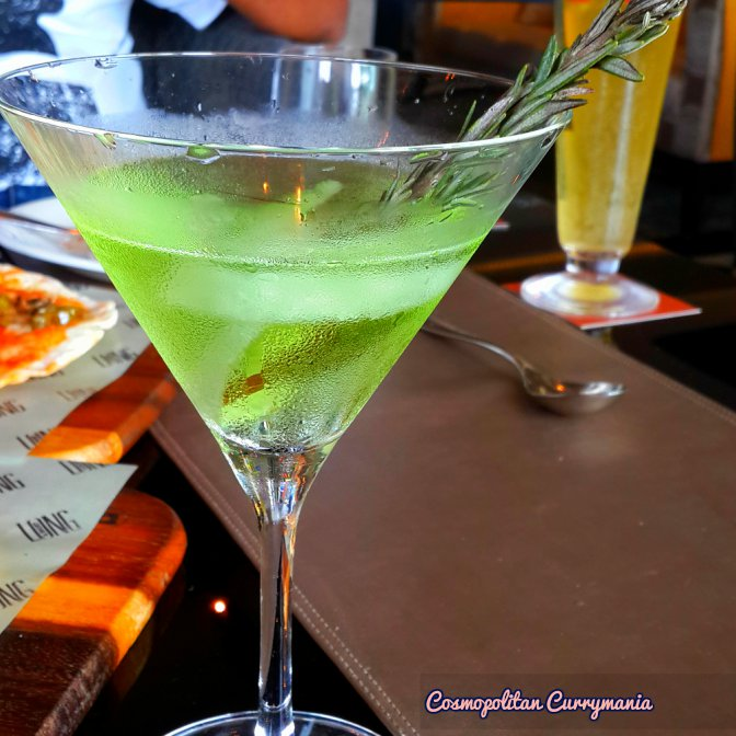 I loved this Cucumber Martini.