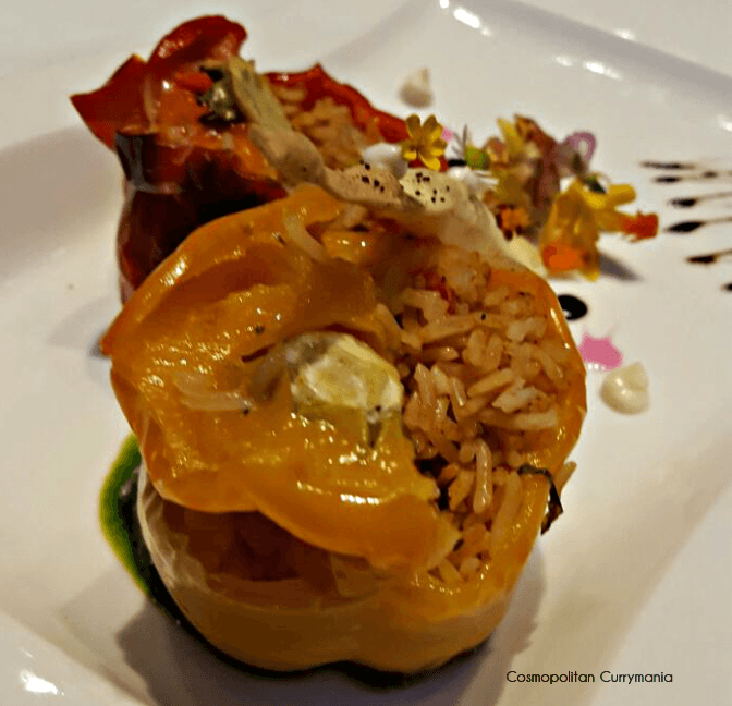 Greek dish of stuffed capsicum called Gemista