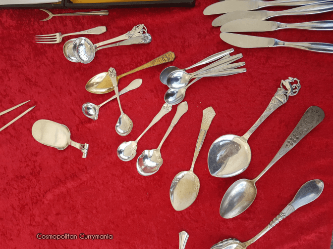 Antique spoons in Naschmarkt