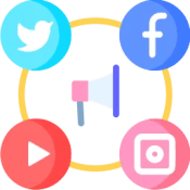 Pixel art for social media contact page