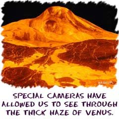 Special cameras have allowed us to see through the thick haze of Venus.