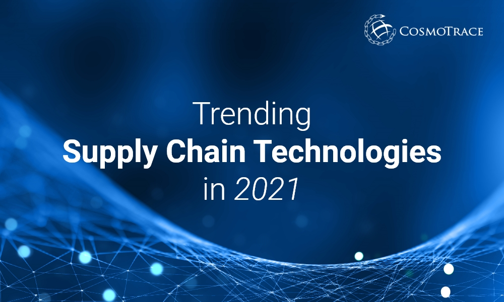 Trending supply chain technologies - CosmoTrace - Blog Featured Image