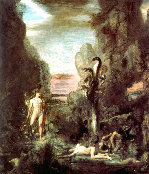 Moreau : Héraclès et l'Hydre de Lerne.