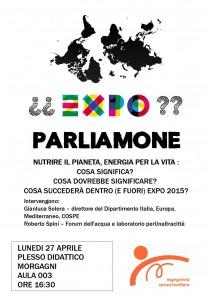EXPO evento 27 aprile
