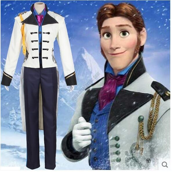 Disney Movie Frozen Prince Hans Cosplay Costume High Quality Adult Suit