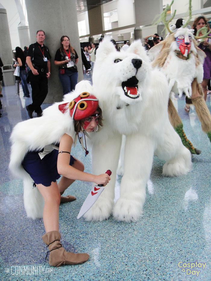Princess Mononoke And Wolf At Anime Expo Cosplay A Day