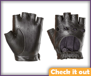 Fingerless Leather Gloves.