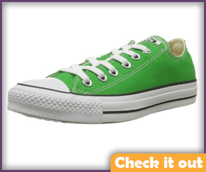 Green Converse Shoes.