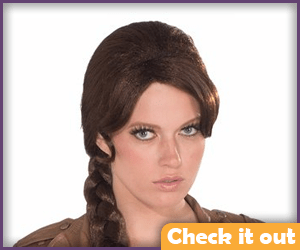 Brown braided wig.