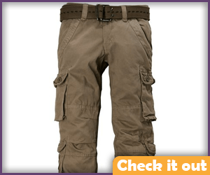 Brown cargo pants.