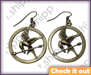 Mockingjay earrings.