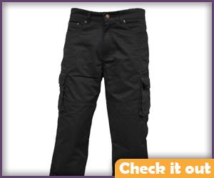 Black utility/cargo pants.