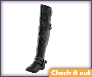 Thigh High Black Boots.