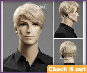 Blonde Side Part Wig.