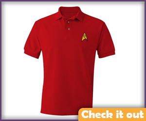 Star Trek Starfleet Red Polo.