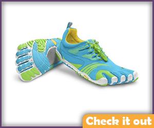 Blue Toe Shoes.