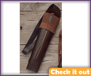 Brown Leather Quiver.