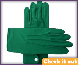 Green Fabric Gloves.