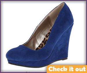 Royal Blue Wedge Heels.
