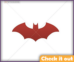 Dark Red Bat Sticker.
