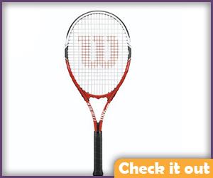 Red Tennis Racket.