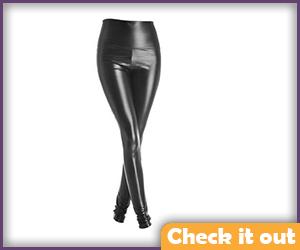 Black Leather Look Leggings.